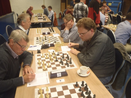 Bastiaan en Evert naast elkaar in ronde 2.