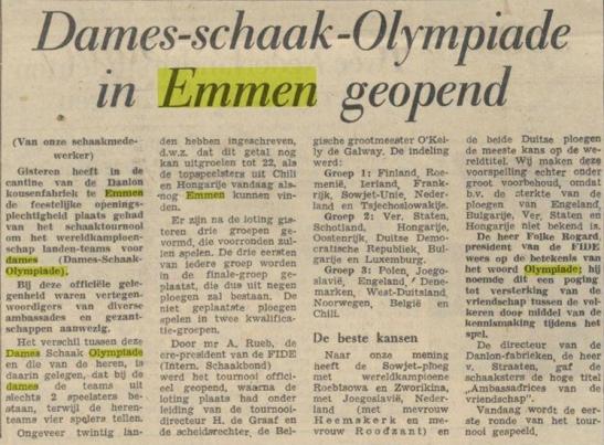 dames olympiade emmen 1957 de waarheid 1a